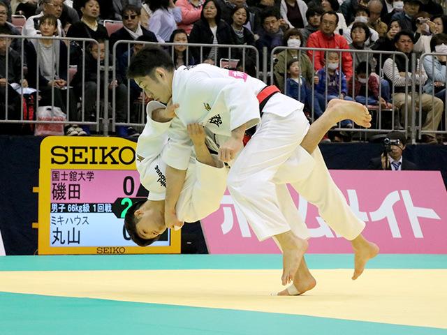 2017年全日本選抜柔道体重別選手権大会 男子66kg級 1回戦 丸山城志郎 vs 磯田範仁