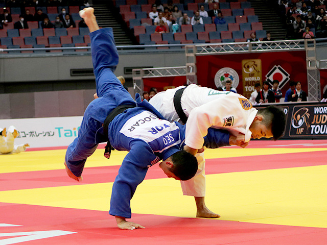 柔道グランドスラム大阪2018 男子73kg級 1回戦 大野将平 vs D.SEO�B
