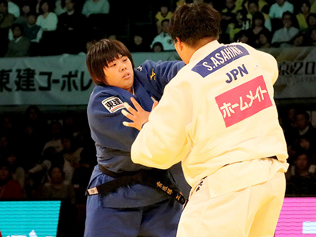 柔道グランドスラム東京2016 女子78kg超級 決勝戦 素根輝 vs 朝比奈沙羅�A