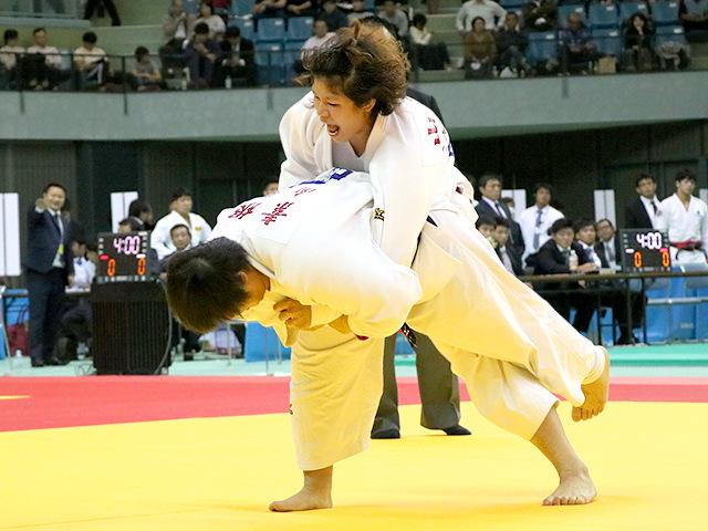 平成29年度講道館杯全日本柔道体重別選手権大会 女子78kg超級 準決勝 素根輝 vs 山本沙羅A