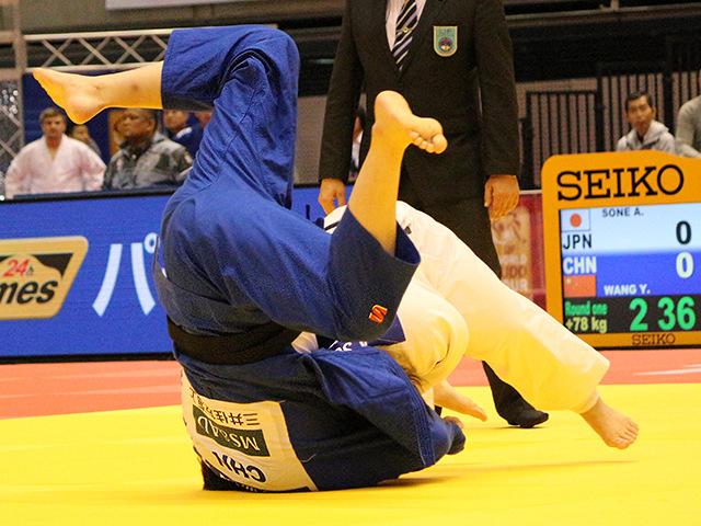 柔道グランドスラム東京2017 女子78kg超級 1回戦 素根輝 vs Y.WANGA