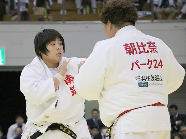 平成30年全日本選抜柔道体重別選手権大会 女子78kg超級 決勝戦 素根輝 vs 朝比奈沙羅B