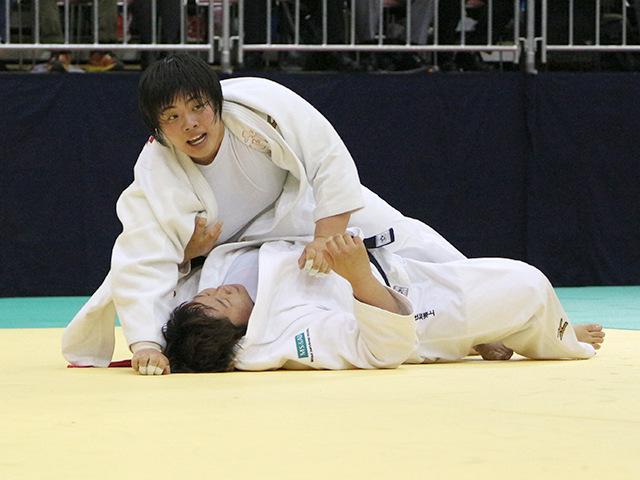 平成30年全日本選抜柔道体重別選手権大会 女子78kg超級 準決勝 素根輝 vs 稲森奈見�B