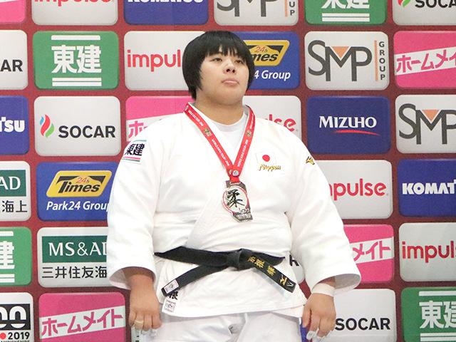 柔道グランドスラム大阪2018 女子78kg超級 表彰式 素根輝