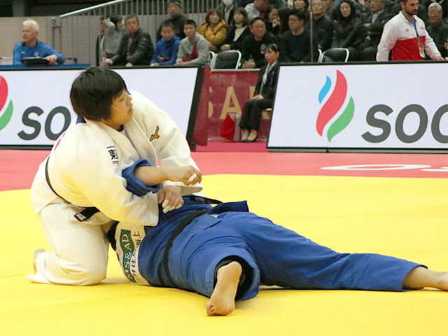 柔道グランドスラム大阪2018 女子78kg超級 1回戦 素根輝 vs M.HAN@