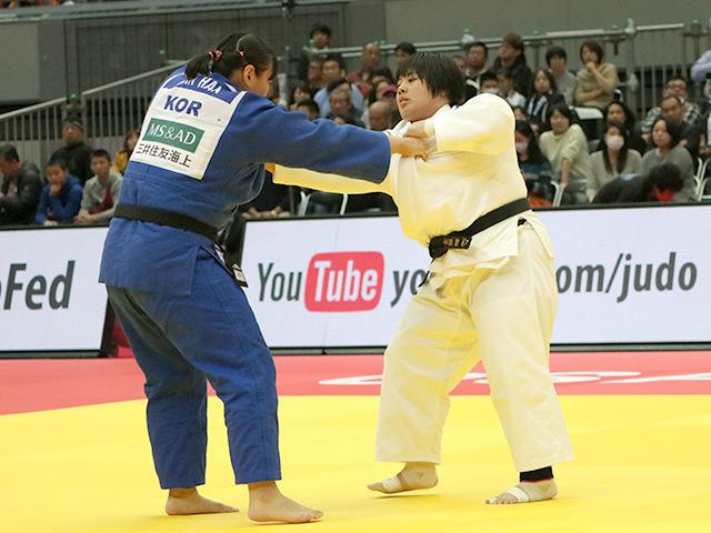 柔道グランドスラム大阪2018 女子78kg超級 1回戦 素根輝 vs M.HANA