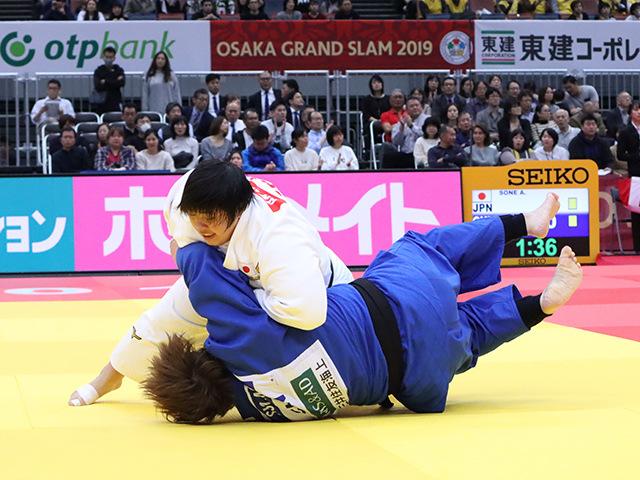 柔道グランドスラム大阪2019 女子78kg超級 2回戦 素根輝 vs S.MA