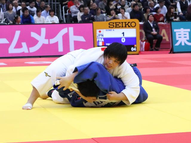 柔道グランドスラム大阪2019 女子78kg超級 準々決勝 素根輝 vs J.TOLOFUA