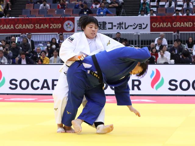 柔道グランドスラム大阪2019 女子78kg超級 準決勝戦 素根輝 vs 冨田若春�A