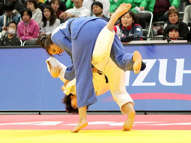 柔道グランドスラム大阪2018 女子70kg級 準々決勝 新井千鶴 vs E.RODRIGUEZ