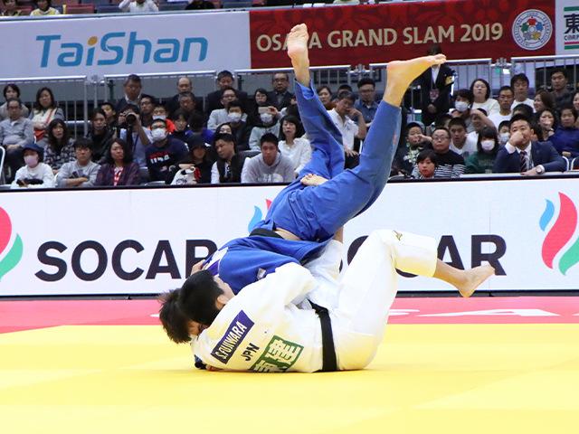 柔道グランドスラム大阪2019 男子81kg級 準決勝戦 藤原崇太郎 vs T.TEPKAEV�@