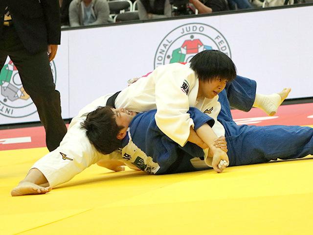 柔道グランドスラム大阪2018 女子78kg級 準々決勝 濱田尚里 vs J.LEE�A