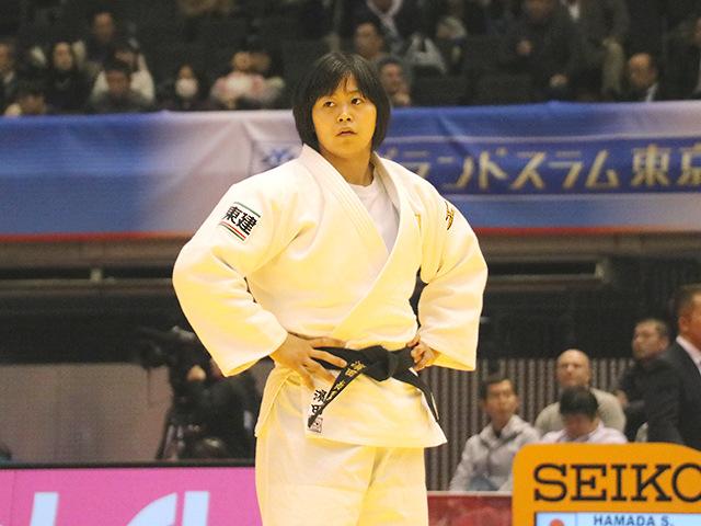 柔道グランドスラム東京2017 女子78kg級 準決勝戦 濱田尚里 vs A.TCHEUMEO�A