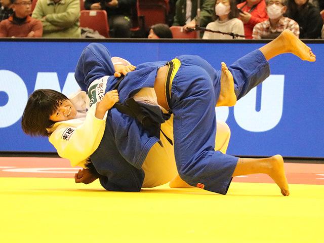 柔道グランドスラム東京2017 女子78kg級 準決勝戦 濱田尚里 vs A.TCHEUMEO�B