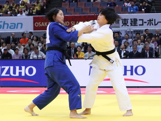 柔道グランドスラム大阪2019 女子78kg級 準決勝戦 濱田尚里 vs 泉真生�@