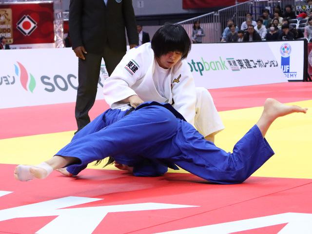 柔道グランドスラム大阪2019 女子78kg級 準決勝戦 濱田尚里 vs 泉真生�A