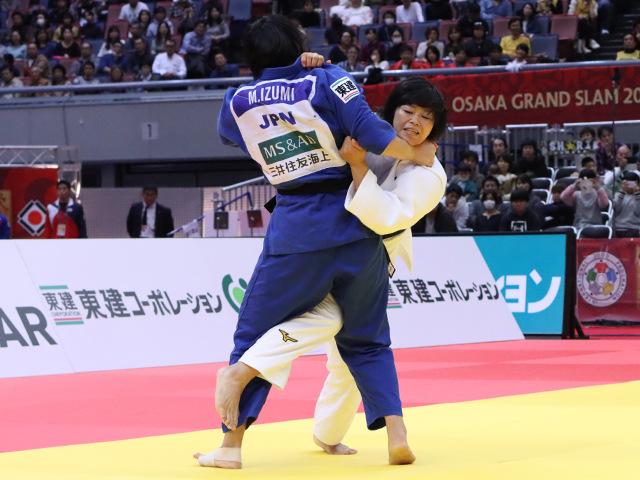 柔道グランドスラム大阪2019 女子78kg級 準決勝戦 濱田尚里 vs 泉真生�B
