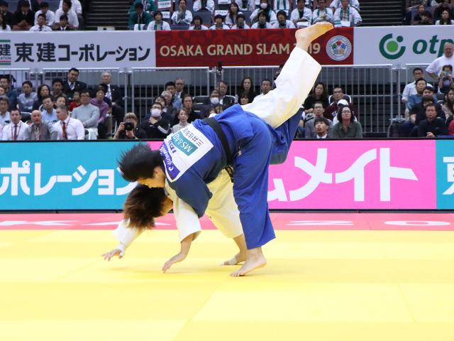 柔道グランドスラム大阪2019 女子78kg級 決勝戦 濱田尚里 vs 梅木真美�A