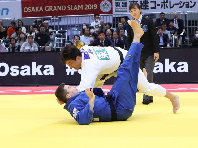 柔道グランドスラム大阪2019 男子90kg級 3回戦 向翔一郎 vs R.DONTSOV�@