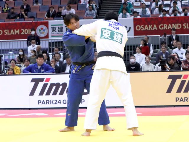 柔道グランドスラム大阪2019 男子90kg級 準々決勝 向翔一郎 vs D.GWAK�@