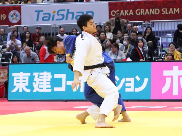 柔道グランドスラム大阪2019 男子90kg級 準々決勝 向翔一郎 vs D.GWAK�A