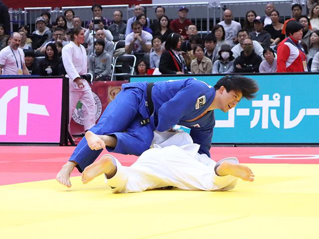 柔道グランドスラム大阪2019 男子90kg級 準々決勝 向翔一郎 vs D.GWAK�B
