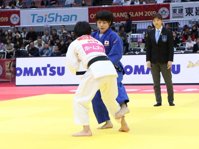 柔道グランドスラム大阪2019 女子52kg級 準決勝戦 志々目愛 vs 阿部詩�@