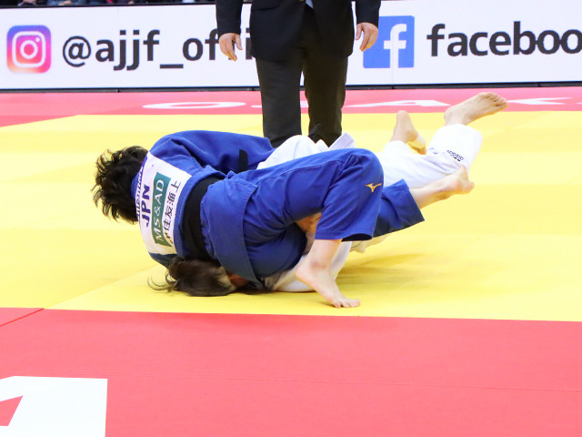 柔道グランドスラム大阪2019 女子52kg級 3位決定戦 志々目愛 vs D.PARK�A