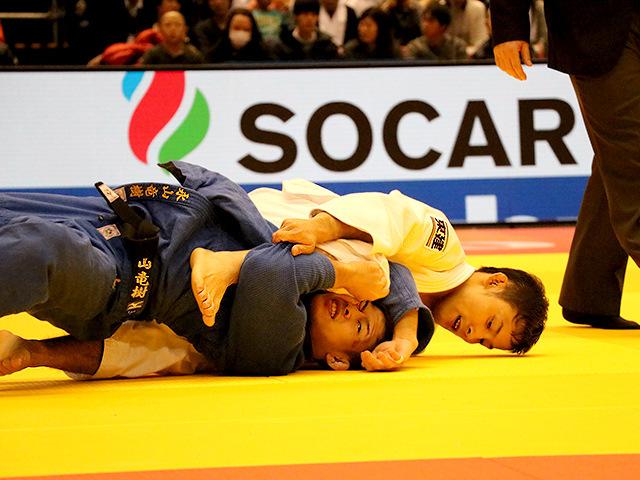 柔道グランドスラム東京2017 男子60kg級 準決勝戦 高藤直寿 vs 永山竜樹