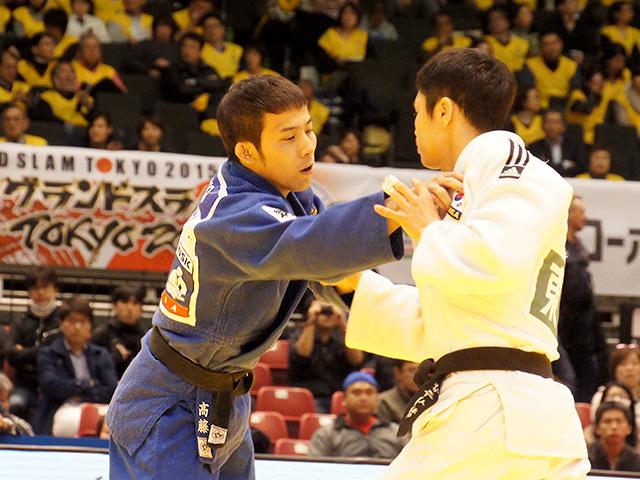 柔道グランドスラム東京2015 男子60kg級 準決勝戦 高藤直寿 vs W.KIM�@