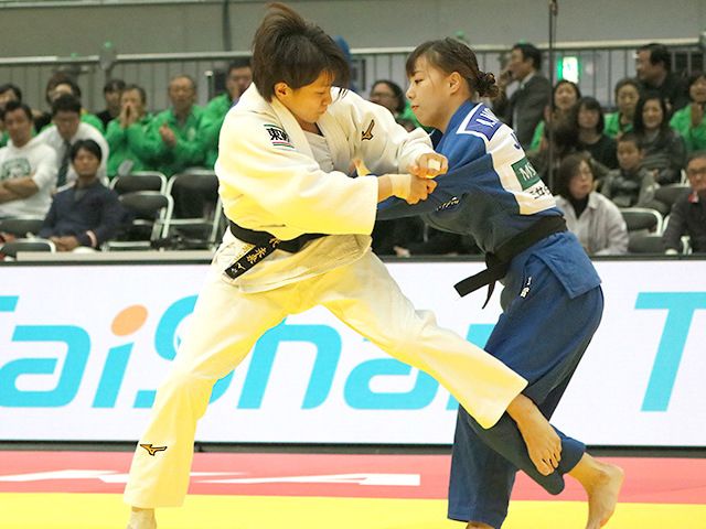 柔道グランドスラム大阪2018 女子63kg級 準々決勝 田代未来 vs 能智亜衣美