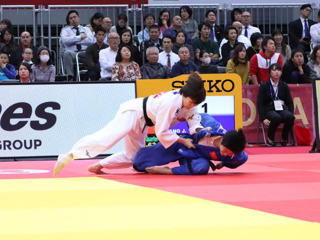 柔道グランドスラム大阪2019 女子63kg級 準々決勝 田代未来 vs J.TANG