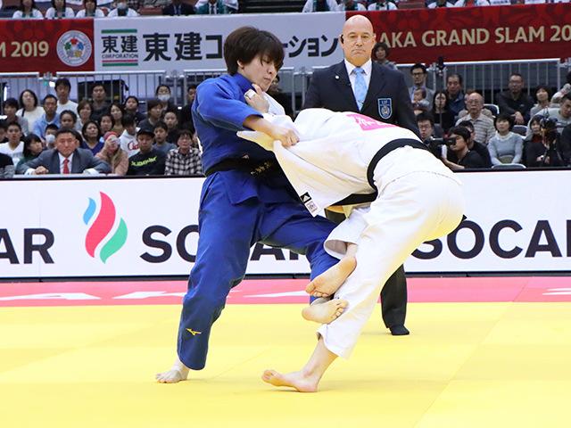 柔道グランドスラム大阪2019 女子63kg級 3位決定戦 田代未来 vs H.HAN�@