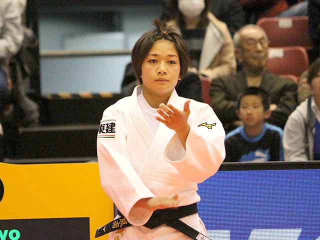 柔道グランドスラム東京2017 女子48kg級 2回戦 渡名喜風南 vs K.BATTAMIR�@