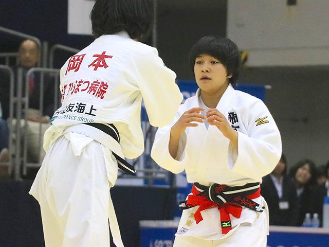 平成29年全日本選抜柔道体重別選手権大会 女子48kg級 準決勝戦 渡名喜風南 vs 岡本理帆