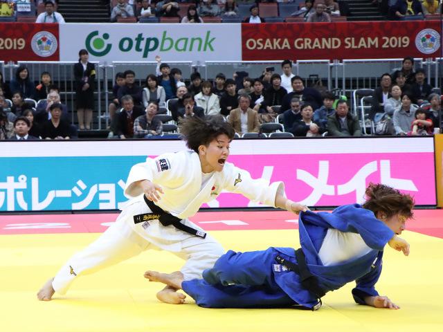 柔道グランドスラム大阪2019 女子48kg級 準決勝戦 渡名喜風南 vs 近藤亜美�A