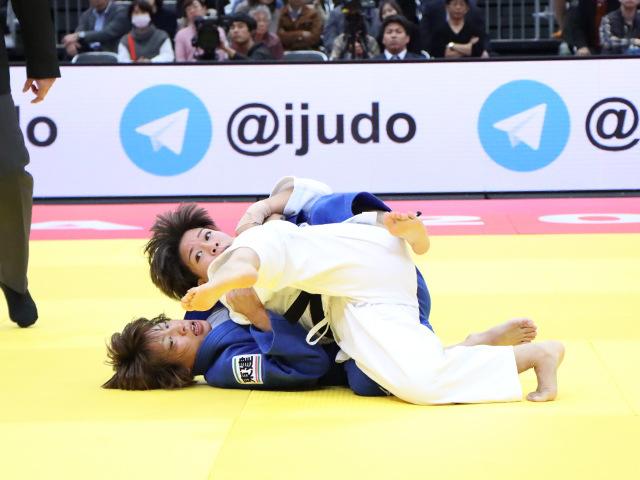 柔道グランドスラム大阪2019 女子48kg級 準決勝戦 渡名喜風南 vs 近藤亜美�B