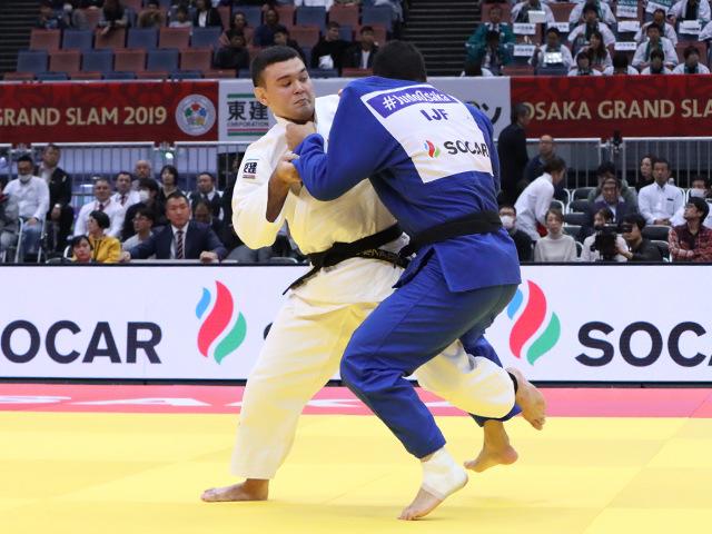 柔道グランドスラム大阪2019 男子100kg級 2回戦 ウルフアロン vs K.REYES�@