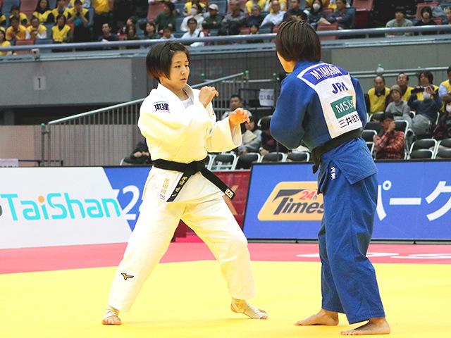 柔道グランドスラム大阪2018 女子57kg級 準決勝戦 芳田司 vs 玉置桃