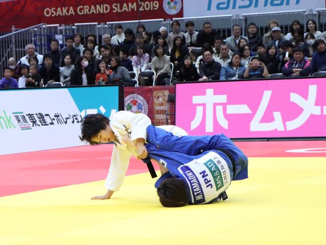 柔道グランドスラム大阪2019 女子57kg級 準決勝戦 芳田司 vs 玉置桃�@