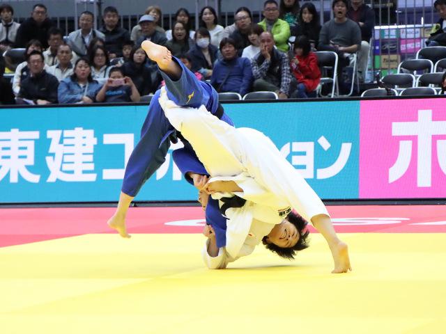 柔道グランドスラム大阪2019 女子57kg級 準決勝戦 芳田司 vs 玉置桃�A