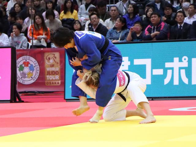 柔道グランドスラム大阪2019 女子57kg級 3位決定戦 芳田司 vs J.KLIMKAIT�@