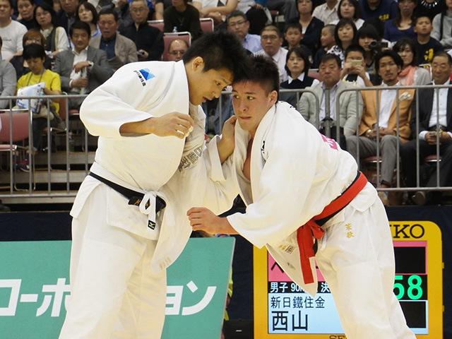 平成28年全日本選抜柔道体重別選手権大会 男子90kg級 決勝戦 ベイカー茉秋 vs 西山大希