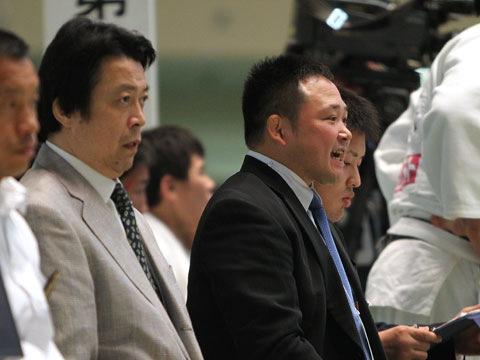 明治大学 藤原監督と園田コーチ