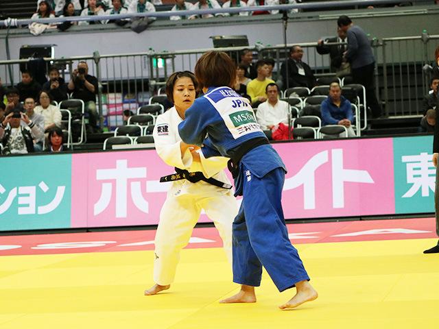 柔道グランドスラム大阪2018 女子48kg級 準決勝戦 渡名喜風南 vs 遠藤宏美�A