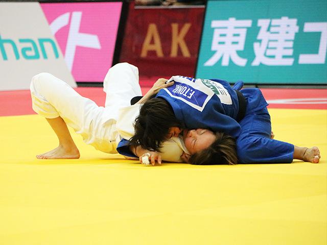 柔道グランドスラム大阪2018 女子48kg級 決勝戦 渡名喜風南 vs U.MUNKHBAT�A