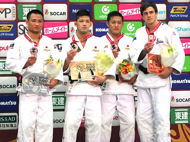 男子73kg級 表彰式