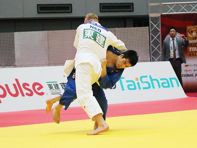 男子81kg級 準々決勝戦 佐々木健志 vs F.DE WIT