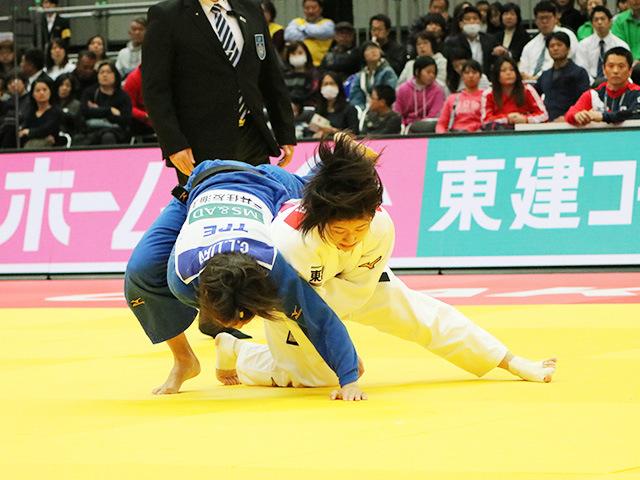 柔道グランドスラム大阪2018 女子57kg級 2回戦 芳田司 vs C.LIEN