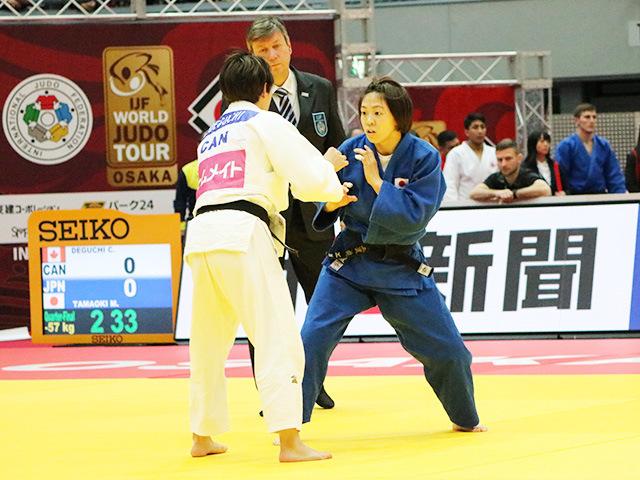 女子57kg級 準々決勝戦 玉置桃 vs C.DEGUCHI